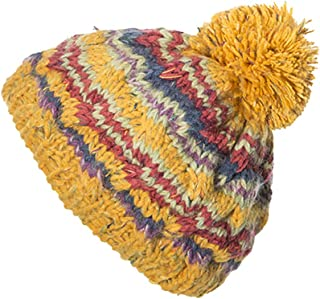Corkscrew Cable Knitted Bobble Hat Plain Mens Womens Beanie Warm Winter Pom Wooly Cap