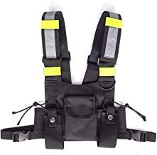 Radio Chest Harness, Universal Radio Carry Case, Tractical Front Pack Pouch Holster Vest Rig Chest Bag Holder for Two Way Radio Walkie Talkie, Rescue Essential for Men Women Hiking Camping