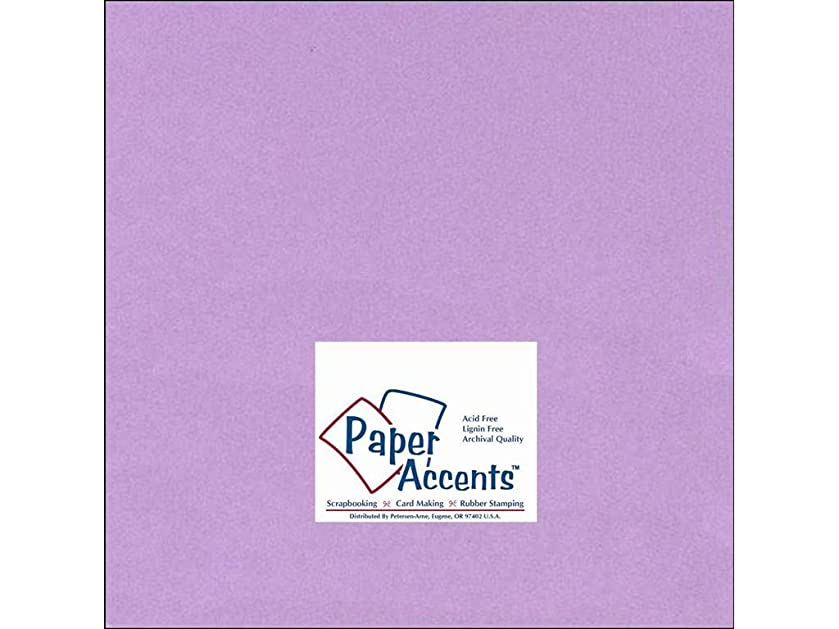 Accent Design Paper Accents Cdstk Smooth 12x12 60# Lilac as39410672