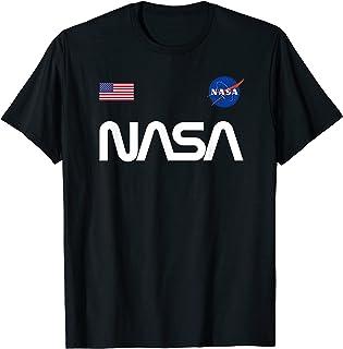 Logo de la NASA vers avec drapeau américain astronaute T-Shirt