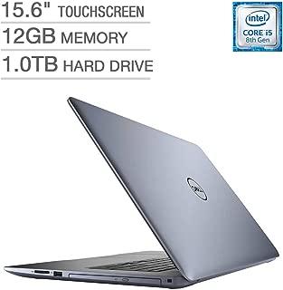 2019 Dell Inspiron 15 5000 15.6-inch Touchscreen FHD Premium Laptop, Intel Quad Core i5-8250U Processor, 12GB RAM, 256GB SSD + 1TB HDD, DVD Writer, Backlit Keyboard, Bluetooth, Blue, Window 10