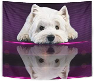 Cute West Highland White Terrier (Westie) Dog Print Tapestry