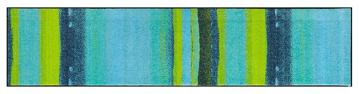 感じる扱いやすい活気づくwash+dry(ウォッシュアンドドライ)マット Graphics Interior Medley acqua 60×260cm J012F