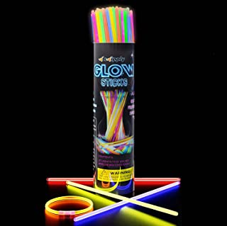 Swipply Glow Sticks Glow in The Dark Party Supplies Set of 100 Stick 8 Colors Fun Magic Cool Toys Games Bracelets Necklace...