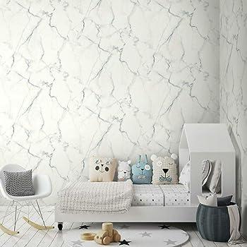 Roommates Carrara Marble Peel And Stick Wallpaper Blue Grey Amazon Com