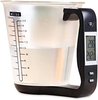 PROCHEF DIGITAL MEASURING JUG KITCHEN SCALE LED DISPLAY BAKING WEIGHING