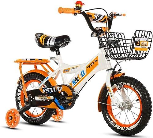 Axdwfd Infantiles Bicicletas Bicicleta for Niños, niñas y Niños, Material de aleación de magnesio Sistema de Freno de Disco Doble Sillín Ajustable del Manillar con Rueda Auxiliar Antideslizante