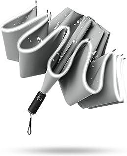 【M2M JAPAN 】おりたたみ 傘 メンズ 軽量 382g 10本骨 逆 折り畳み タイプ ワンタッチ 自動開閉 おりたたみ傘 かさ カバー付き