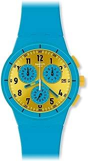 Swatch Women's SUSS400 Maresoli Year-Round Chronograph Quartz Blue Watch