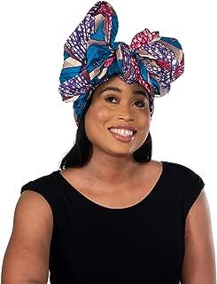 Ankara Headwrap Long Hair Head Wrap Turban and Scarf Dashiki African Print Kente and Stretch Jersey