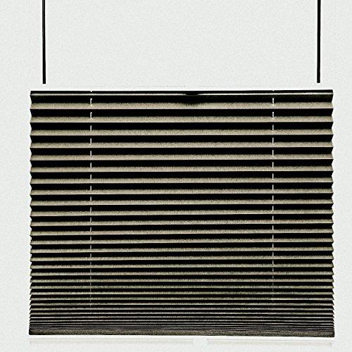 Store plissé thermique Black Out - 95 x 200 cm - 100 % opaque - Taupe - 80 tailles disponibles