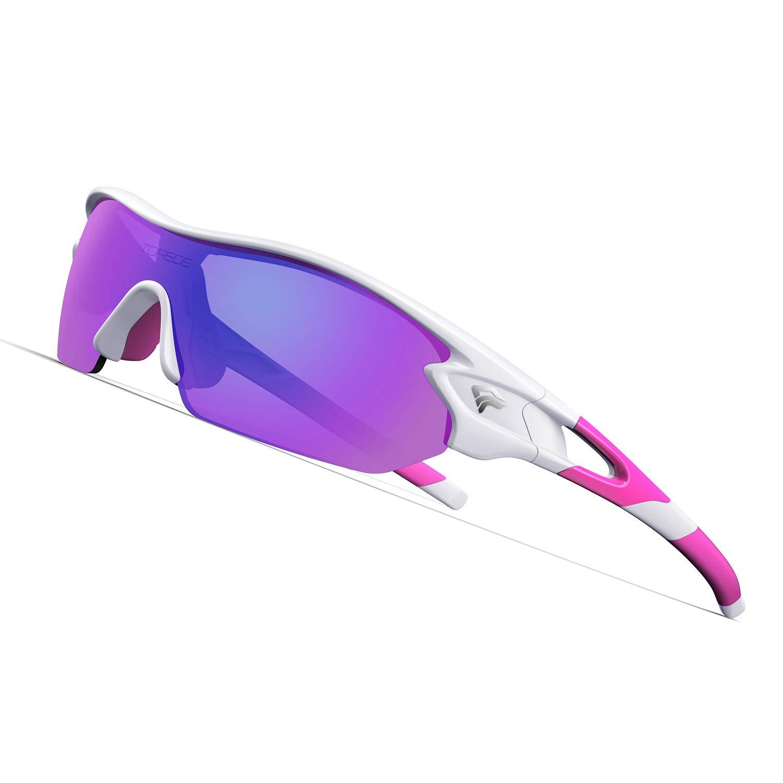 TOREGE Polarized Sunglasses Interchangeable Baseball