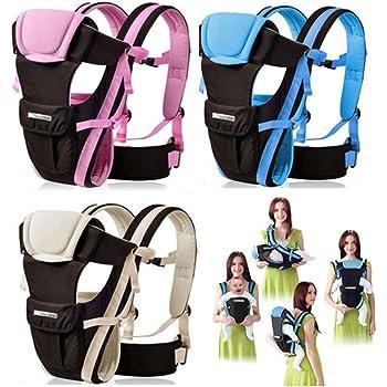 CdyBox Adjustable 4 Positions Carrier 3D Backpack Pouch Bag Wrap Soft Structured Ergonomic Sling Front Back Newborn Baby Infant (Blue)