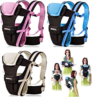 CdyBox Adjustable 4 Positions Baby Carrier 3D Backpack Infant Newborn Pouch Bag Wrap Soft Structured Ergonomic Sling Front Back (Khaki)
