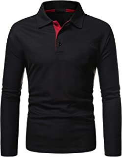 Camisas Hombre Manga Larga con Solapa Flojo Tallas Grande Camiseta Modernas Deporte Marcas Blusa Shirt Primavera Verano