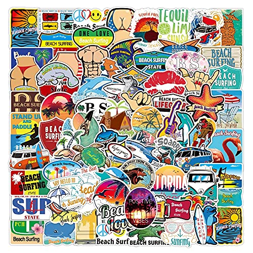 HENJIA 50PCS Little Fresh Summer Beach Holiday Ins Wind Sticker Creativo Trolley Box Notebook Graffiti Stickers