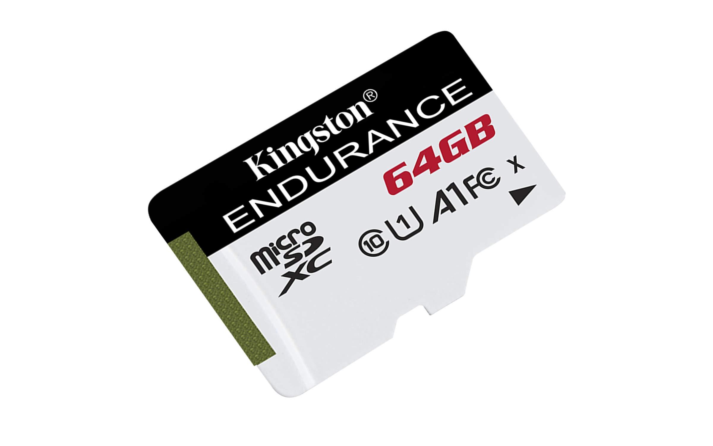 Kingston SDCE/64GB Tarjeta microSD High Endurance, 64 GB: Amazon ...