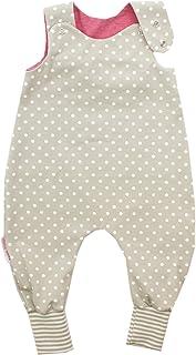 Kleine Könige Baby Strampler Mädchen Baby Body  Modell Punkte beige innen beere, beige-weiß  Ökotex 100 zertifiziert  Größen 50-92