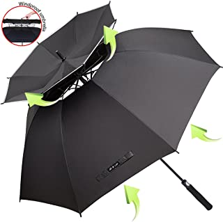 Automatic Windproof UV Protection Straight Umbrellas for Car Rain VGEBY Double Layer Inverted Umbrella