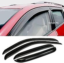 VXMOTOR For 01-04 Toyota Tacoma Double/Crew Cab Sun/Rain Guard Smoke Vent Shade Window Visors