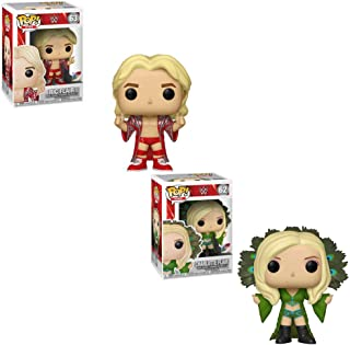 Funko POP! WWE: RIC Flair and Charlotte Flair Toy Action Figure - 2 POP Bundle