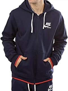 Nike Men s Sportswear Logo Archive Full Zip Hoodie AJ 7925 451 Size Large  Navy 4666d3477