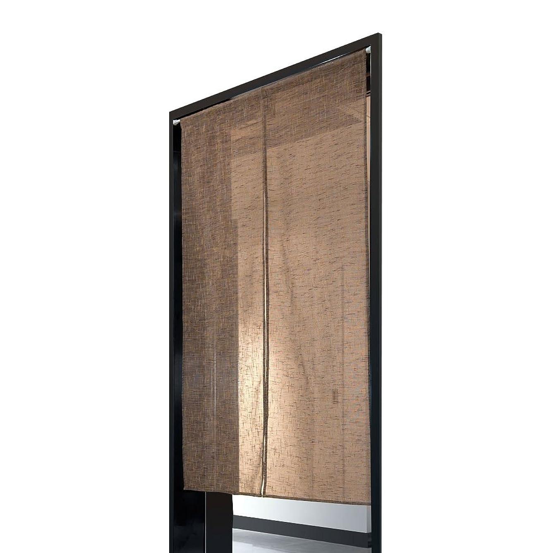 散らす高潔な本物のShinnwa のれん おしゃれ 目隠し 和風 暖簾 5色選べる 麻のれん キッチン リビング 飲食店 出入り口 ロング カーテン 光を通すのれん 幅85cm×丈150cm イエローブラウン