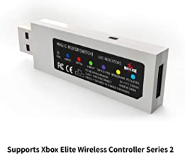 MAYFLASH MAGIC-NS Wireless Bluetooth Controller Adapter for Nintendo Switch, PC Windows, NEOGEO mini, PS Classic. Supports Wired USB controllers with a OTG cable. Supports Xbox Elite Wireless Series 2