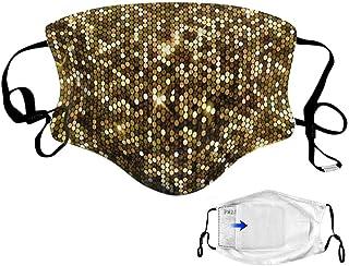 VTYOSQ Bandana de filtro reemplazable de tela lavable de algodón con estampado floral y gancho para la oreja ajustable Hombres y mujeres para correr Sport Bandanas unisex