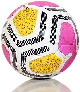 كرة قدم من H PRO مزودة ببلاستيك حراري عالي الجودة لكرة القدم مقاس 5 مضاد للانزلاق (وردي/أصفر)