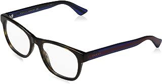 GG 0004O 003 Havana Plastic Square Eyeglasses 53mm