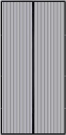 Magnet Fliegenvorhang,TOPELEK Magnet Fliegengitter Balkontür Fliegenvorhang Magnetvorhang Tür Insektenschutz Türvorhang Max 110×220cm, Klebmontage ohne Bohren