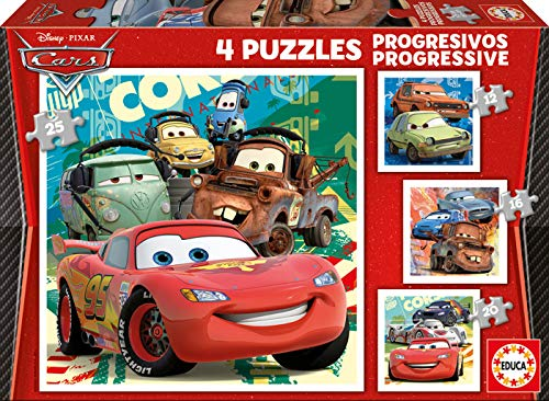 Educa - Cars 2 Conjunto de Puzzles, Multicolor (14942)