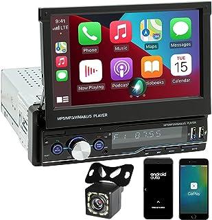$127 » Sponsored Ad - Single Din Apple Carplay Stereo, Car Radio Compatible Android Auto,FILP Out 7 inch Screen, FM Radio,Bluetoo...