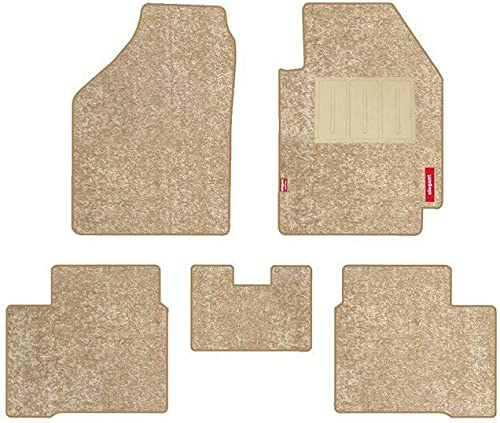 Elegant Miami Beige Carpet Car Mats for Honda City (2014-2017)