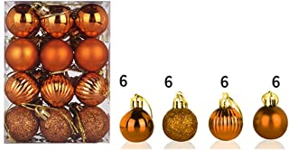 Zcuhen Christmas Ball Ornaments Shatterproof Christmas Ornaments Set Decorations for Xmas Tree Balls - 24ct Shatterproof Christmas Tree Decorations Large Hanging Ball 30mm