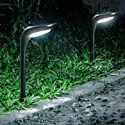 OSORD Outdoor Solar Pathway Lights, 【4 Pack】Waterproof 2-in-1 Solar Powered Wall Light Landscape Lighting Auto On/Off with 2 Color Modes Solar Lights for Garden Path Yard Patio Walkway Driveway Pool