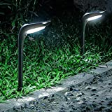 OSORD Solar Pathway Lights Outdoor, 【4 Pack】Waterproof 2-in-1 Solar Powered Garden Lights LED Path Lights Auto On/Off with 2 Color Modes Outdoor Solar Lights for Lawn Yard Walkway Driveway Landscape