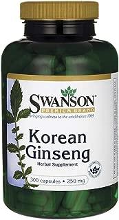 Swanson Korean Ginseng 250 Milligrams 300 Capsules