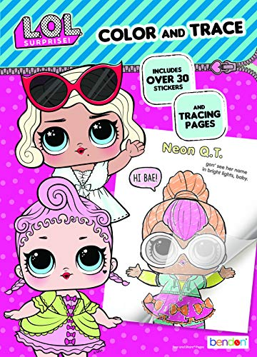 L.O.L. Surprise! Color & Trace Activity Book Bendon 42756,Multicolor