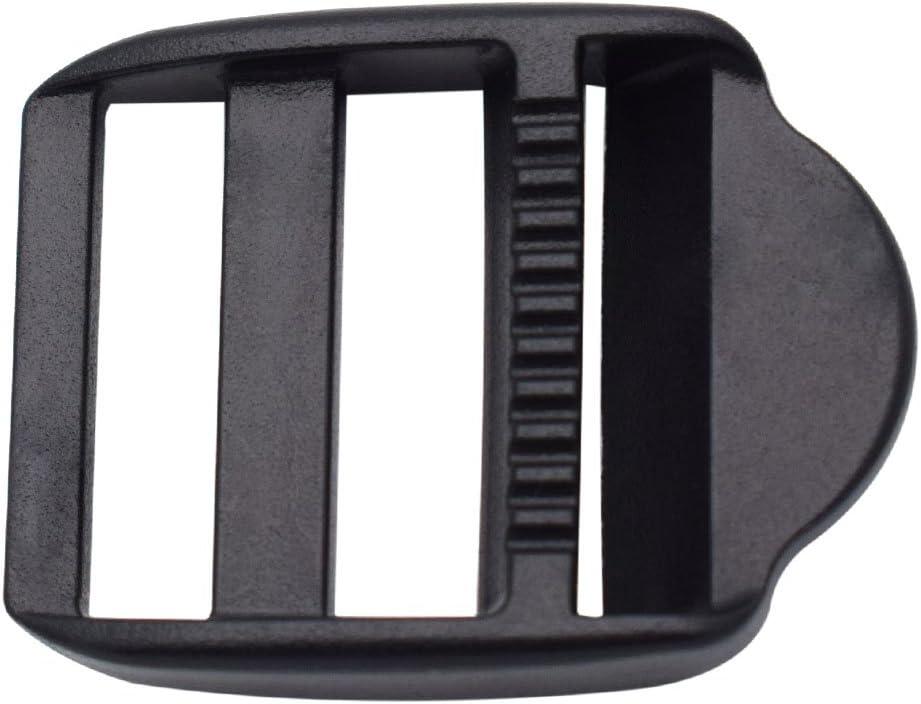 12 Pack Super sale Ranking TOP3 1 inch Plastic Ladder Bac Slider Lock for Buckles Adjust