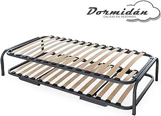 Dormidán - Cama Nido, Conjunto somier somieres Canguro con Patas Incluidas, Arrastre con Ruedas, Medida 90x180cm
