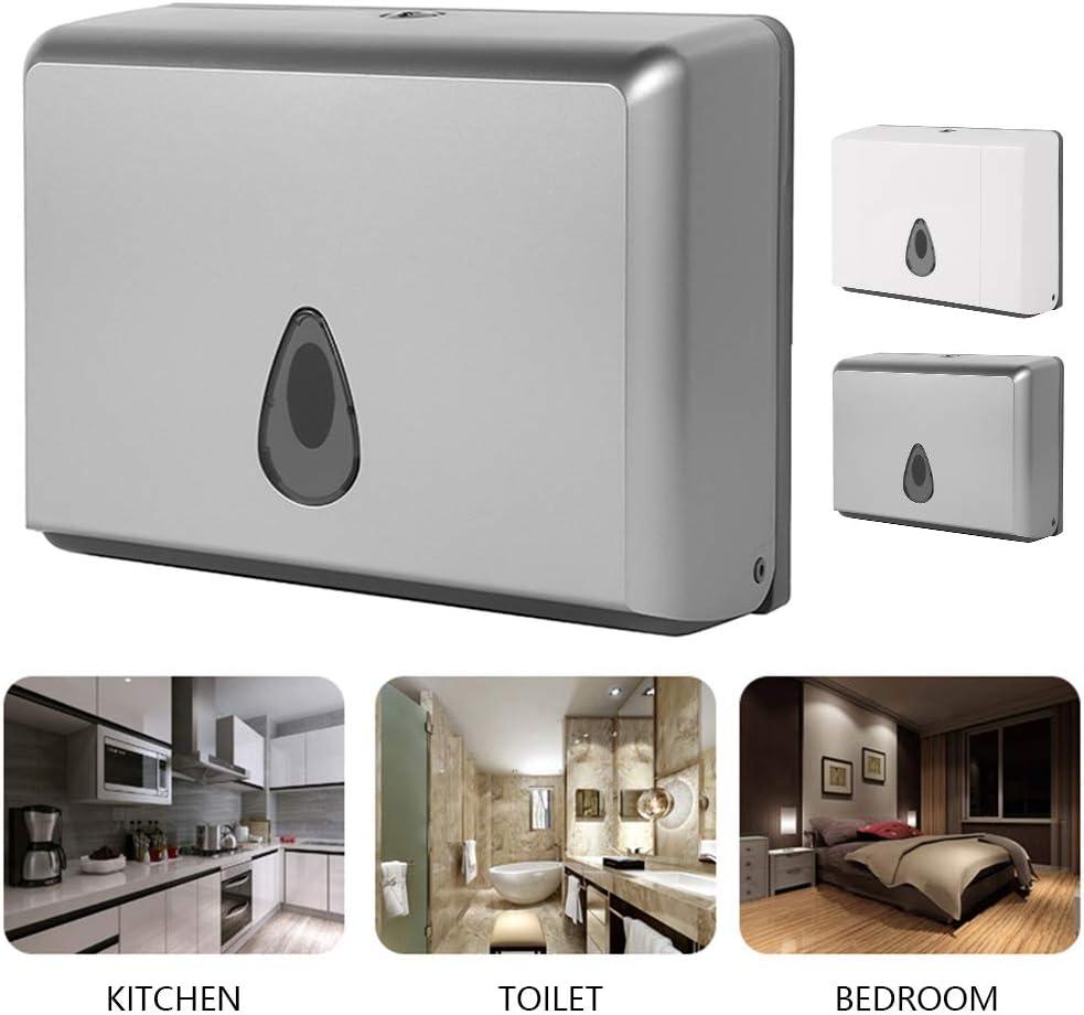 Silber Yours Bath Papiertuchspender Wand Sensor Handtuchspender f/ür Papierhandt/ücher Anself Papierhandtuchspender