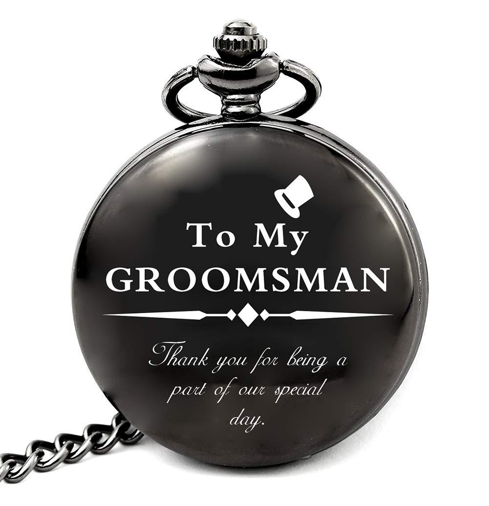 Groomsmen Gifts for Wedding Best Man Gifts for Wedding Funny Personalized Groomsman Pocket Watch  sc 1 st  Amazon.com & Menu0027s Groomsmen Gifts: Amazon.com