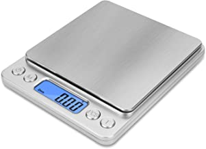 NEXT-SHINE Gram Scale Digital Kitchen Scale Mini Pocket Pro Size 500g x 0.01g with LCD Display Stainless Steel Platform fo...