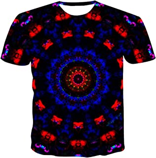 Unisex T-shirt 3D Printed Painted Summer Casual Short Sleeve beauty pattern Shirts Tees for Men Women