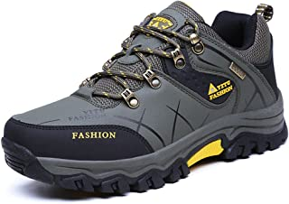 TERIAU Hiking Boots for Mens Low-top Professional Non Slip Breathable Outdoor Sneaker Walking Shoes