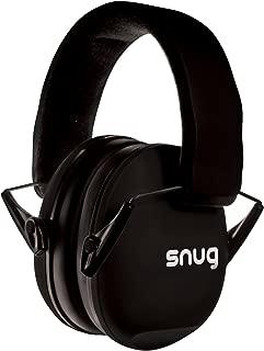 Snug Kids Earmuffs/Hearing Protectors - Adjustable Headband Ear Defenders for Children and Adults (Black)