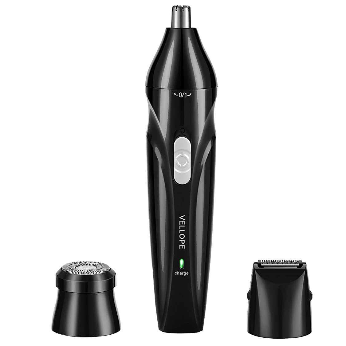 シェルハグ規模Vellope 鼻毛カッター 眉シェーバー 耳毛カッター USB充電式 はなげカッター 電動シェーバー エチケットカッター ムダ毛処理 三年間保証 (黑)