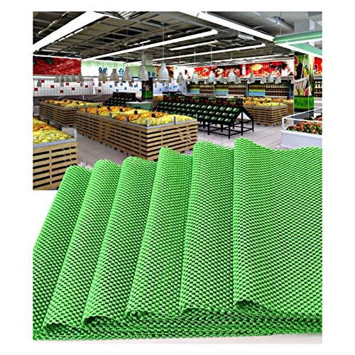 Gittergewebe Shelf Liner, Anti-Rutsch Schubladenmatten, Cabinet Liner, 3,5mm Dick Polyurethan Waschbar Für Vorratsschränke, Drahtregale, Küchenschrank ( Color : Green , Size : 1.5x30m )